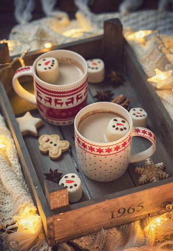 Atmosphere「Hot Cocoa with marshmallows in a cozy Christmas atmosphere」:スマホ壁紙(18)