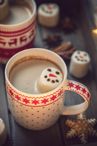 Atmosphere「Hot Cocoa with marshmallows in a cozy Christmas atmosphere」:スマホ壁紙(15)