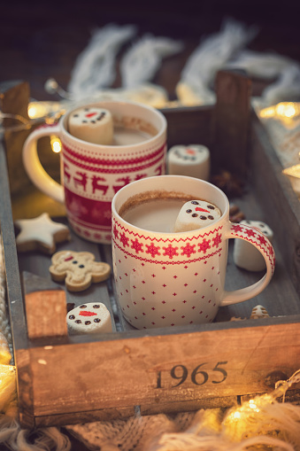 Atmosphere「Hot Cocoa with marshmallows in a cozy Christmas atmosphere」:スマホ壁紙(17)