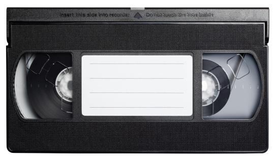 Computer Software「Video cassette tape isolated on white.」:スマホ壁紙(12)