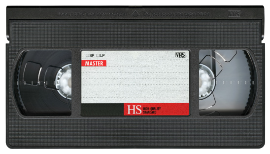 Film Reel「VHS Video Cassette Tape isolated on white background, clipping path」:スマホ壁紙(10)