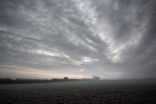 Cotswolds「The Cotswold countryside early on a winter morning.」:スマホ壁紙(19)