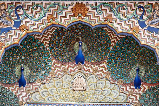 Peacock Gate at the City Palace, Jaipur, Rajasthan, India:スマホ壁紙(壁紙.com)
