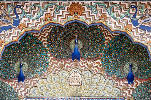 Rajasthan「Peacock Gate at the City Palace, Jaipur, Rajasthan, India」:スマホ壁紙(18)