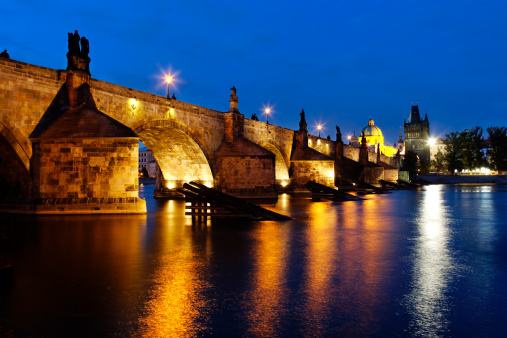 Charles Bridge「Evening viewu of the charles bridge」:スマホ壁紙(8)