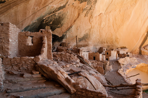 Log「Keet Seel ruins close up, Navajo National Monument, Arizona」:スマホ壁紙(14)