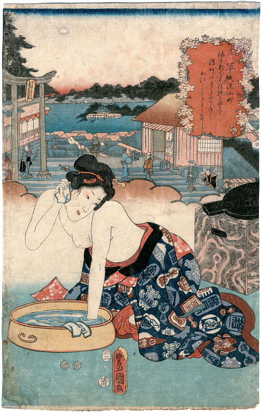日本文化「Goten-Yama, From The Series One Hundred Beautiful Women At Famous Places In Edo」:写真・画像(11)[壁紙.com]