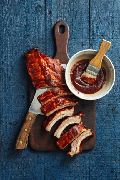 Smoke barbecue pork ribs:スマホ壁紙(壁紙.com)