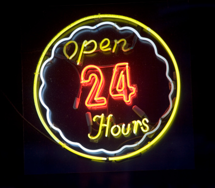 Convenience「open 24 hours neon sign」:スマホ壁紙(17)