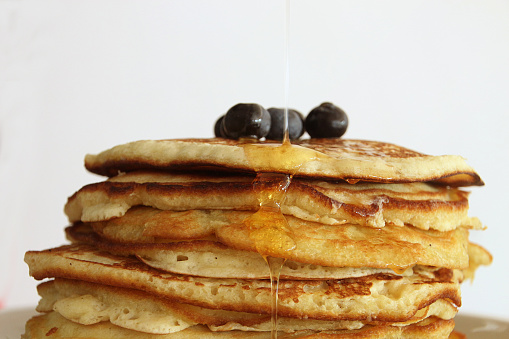 Blueberry「Stack of pancakes with blueberries」:スマホ壁紙(6)