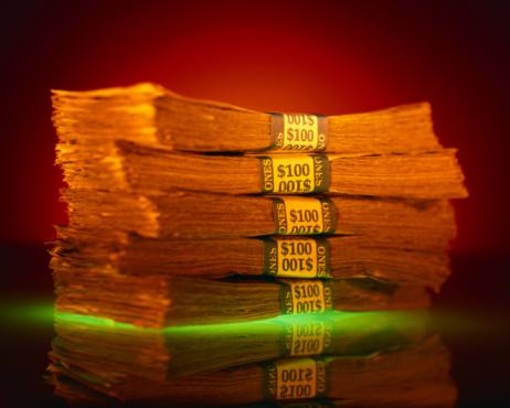 Economic fortune「Stack of Paper Money Bundles」:スマホ壁紙(4)