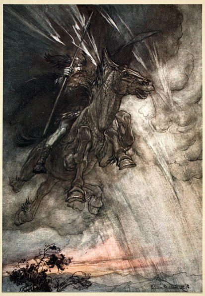 God「Raging Wotan Rides To The Rock! Like A Storm-Wind He Comes!' 1910」:写真・画像(1)[壁紙.com]