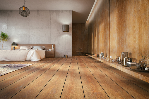 Parquet Floor「Loft Bedroom」:スマホ壁紙(1)