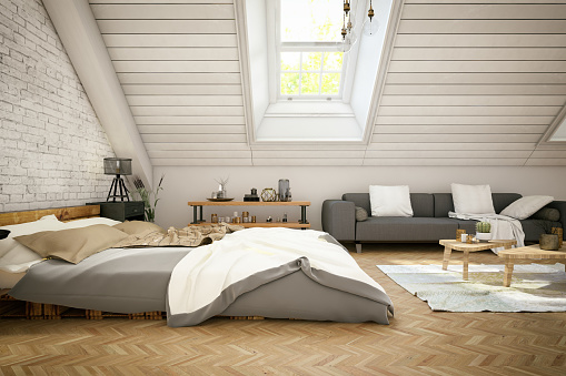 Bed - Furniture「Loft Bedroom in the Attic」:スマホ壁紙(5)