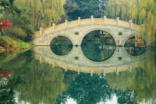 Feng Shui「Tradicional Chinese Garden and Bridge」:スマホ壁紙(3)