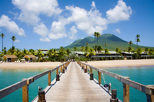 Volcano「Pinneys Beach Nevis Caribbean」:スマホ壁紙(13)