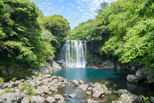 済州島「Cheonjeyeon Falls, Jeju Island, South Korea」:スマホ壁紙(5)