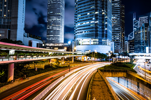 Hong Kong Island「Hong Kong night city」:スマホ壁紙(15)