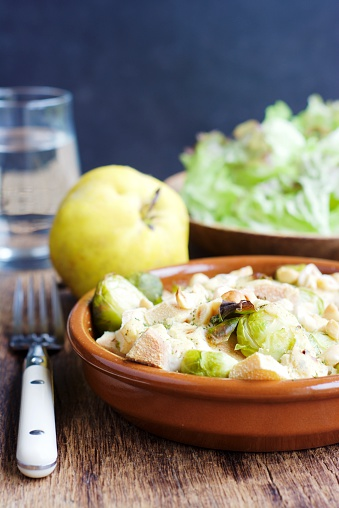 カリン「Brussels sprouts quince gratin with hazelnut sauce」:スマホ壁紙(7)