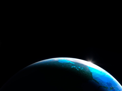 Planet Earth「Globe shot to look like view of Earth from space.」:スマホ壁紙(4)