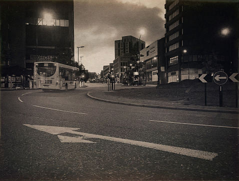 Multiple Exposure「Traffic in Sheffield, UK」:スマホ壁紙(19)