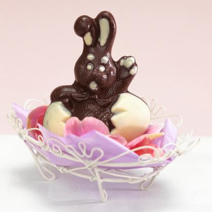 Easter Basket「Chocolate easter bunny in basket」:スマホ壁紙(19)