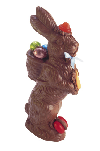 Easter Bunny「Chocolate Easter bunny with candies」:スマホ壁紙(6)