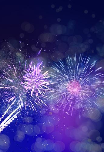 New Year「fireworks background in night sky」:スマホ壁紙(14)