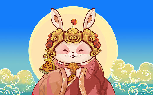Cartoon「Mid-Autumn Festival」:スマホ壁紙(2)