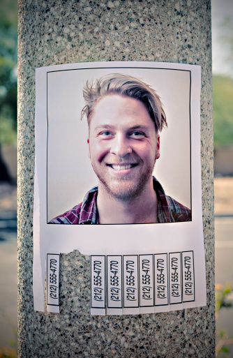Telephone Number「Flyer with phone numbers & man's picture on a post」:スマホ壁紙(12)