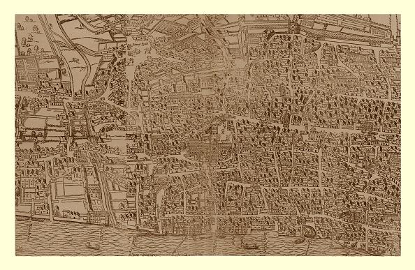 都市景観「Civitas Londinum, C1560-1620, (1886)」:写真・画像(11)[壁紙.com]