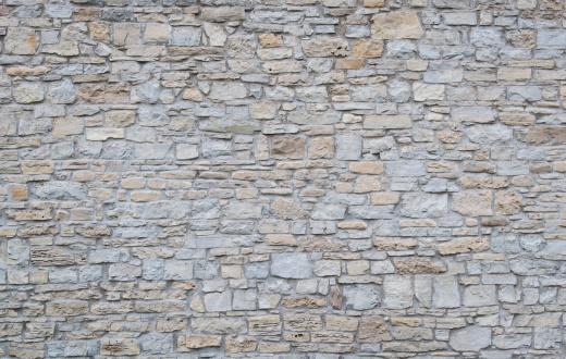 Stone Wall「Wide shot of a plain limestone wall」:スマホ壁紙(3)