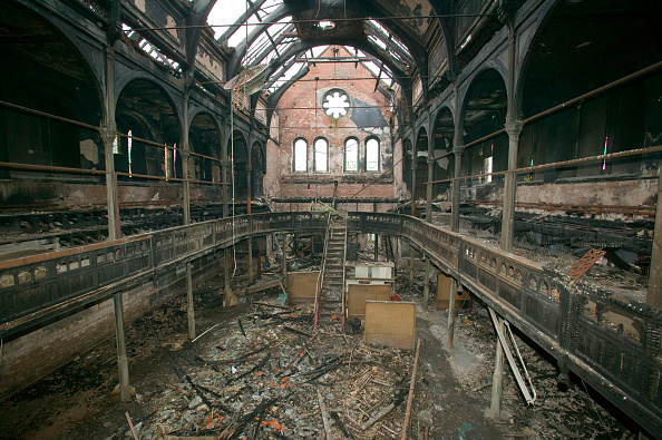 Arson「a church burned down by an arson attack in Barrow in Furness Cumbria UK」:写真・画像(1)[壁紙.com]