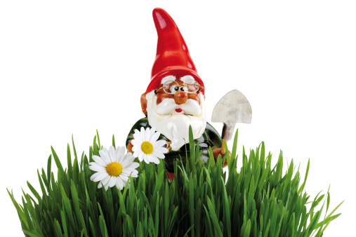 Planting「Garden gnome with spade, grass in foreground」:スマホ壁紙(3)