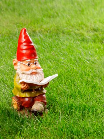 Fairy Tale「Garden gnome reading book on grass」:スマホ壁紙(13)