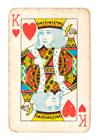 King - Royal Person「Old King of Hearts Isolated on White」:スマホ壁紙(8)