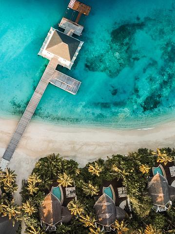 島「上からトロピカルアイランドリゾート」:スマホ壁紙(5)