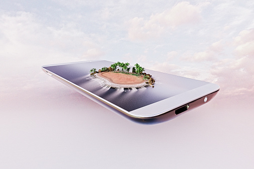 Touch Screen「Tropical island on a smart phone」:スマホ壁紙(9)