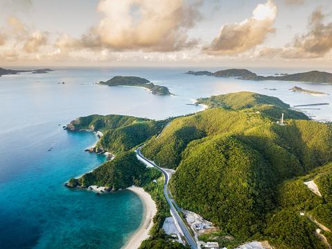 島「上から熱帯の島々」:スマホ壁紙(11)