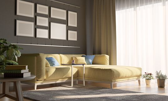 Yellow「Cozy Living Room With Sunlight」:スマホ壁紙(15)