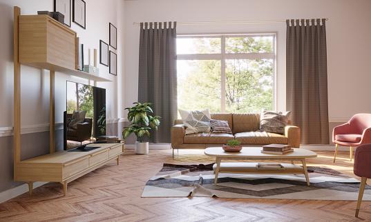 Scandinavia「Cozy Living Room Interior」:スマホ壁紙(9)
