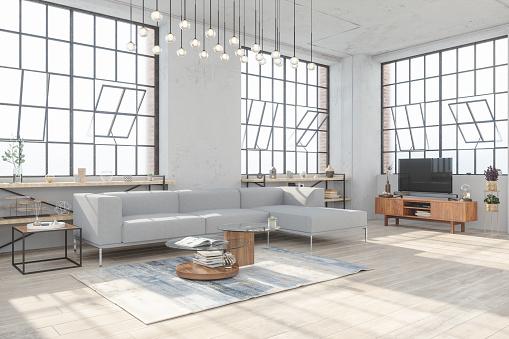 Clean「Cozy living room interior」:スマホ壁紙(18)