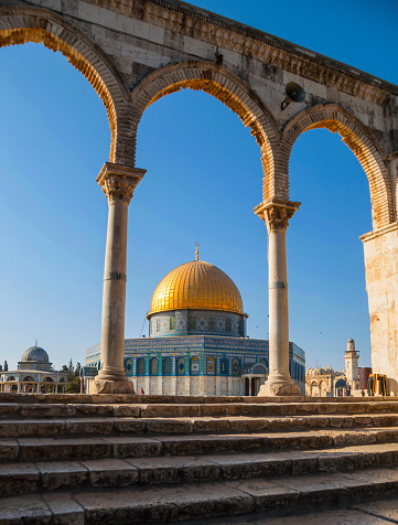 Spirituality「Israel, Jerusalem, Stone arches and Dome of the Rock」:スマホ壁紙(6)