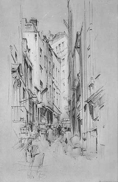 City Life「Love Lane, showing the entrance to Wrens house on the left, c1902, (1903)」:写真・画像(6)[壁紙.com]