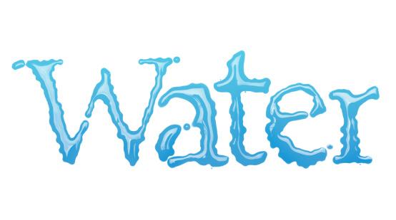 文字「Water」:スマホ壁紙(14)