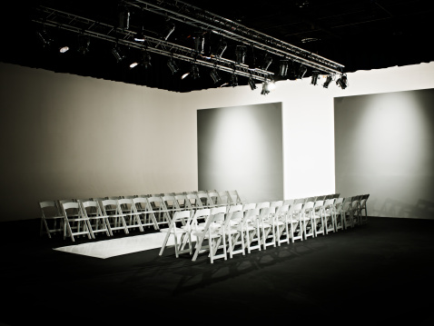 Fashion show「Empty chairs and catwalk set for fashion show」:スマホ壁紙(16)