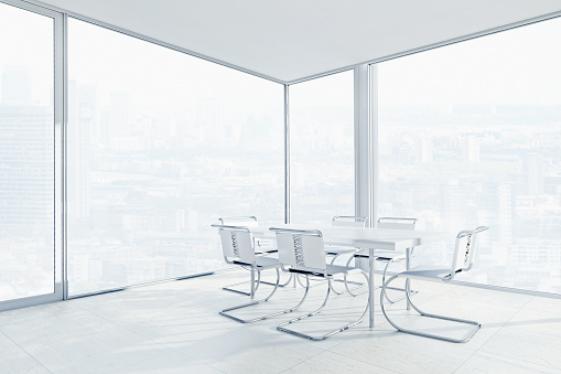 Blank「Empty chairs and conference table in office」:スマホ壁紙(11)