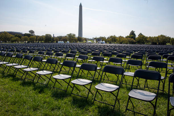 20,000 Empty Chairs Placed Near White House To Remember 200,000 Lives Lost To COVID-19:ニュース(壁紙.com)