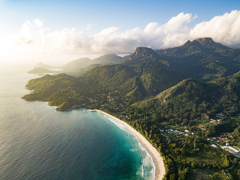 Indian Ocean「Grand Anse Mahe Island Seychelles Beach Coastline」:スマホ壁紙(18)