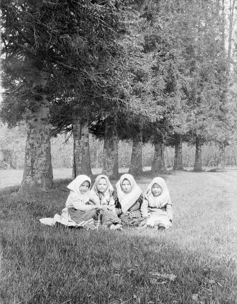 Grass Family「Four Young Girls in Head Scarves」:写真・画像(18)[壁紙.com]